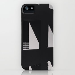 Shadows on a wall with brick iPhone Case