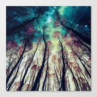 nordic Canvas Prints featuring NORDIC LIGHTS by RIZA PEKER