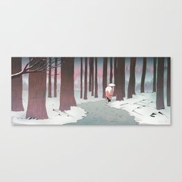 Monk in the Snow Canvas Print