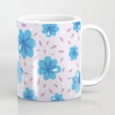 Gentle Blue Flowers Pattern Mug