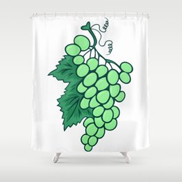 Abstract bunch of grapes Shower Curtain