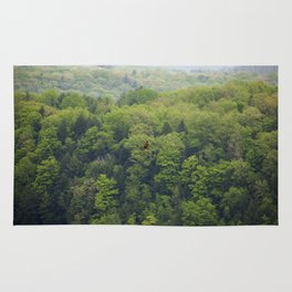 Flying Above the Tree Tops - Spring Trees  Rug