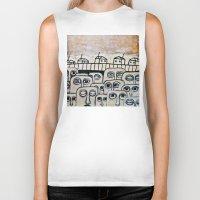 the neighbourhood Biker Tanks featuring Crowded neighbourhood by Kaelyn Saunders