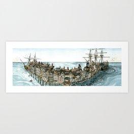 Pirate Port Art Print