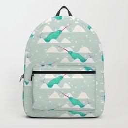 Sea unicorn - Narwhal grey Backpack