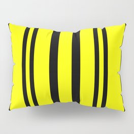 NEON YELLOW AND BLACK THIN AND THICK STRIPES Pillow Sham