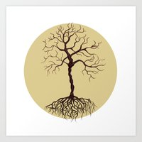 tree of life Art Prints featuring life tree by Mihai Paraschiv