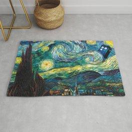 Tardis Art Starry Painting Night Rug