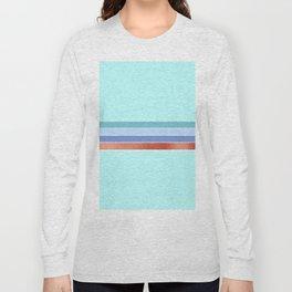 Aqua and rose gold stripes Long Sleeve T-shirt