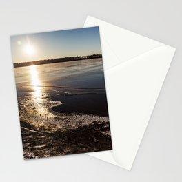 Sunset Over Freezing Lake 8 Stationery Cards