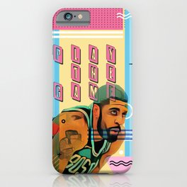 PLAY THE GAME iPhone Case