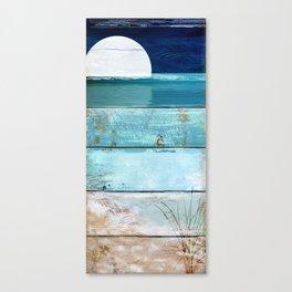 Beach Moonrise Canvas Print