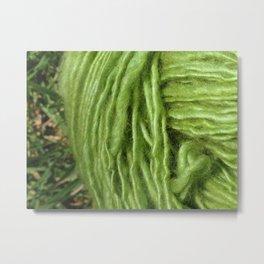 Spring Green Yarn Metal Print