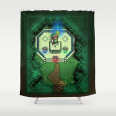 Zelda Link to the Past Master Sword Shower Curtain
