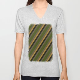 Cactus Garden Stripes 4D Unisex V-Neck