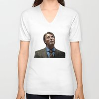 hannibal V-neck T-shirts featuring Hannibal by Jaimie