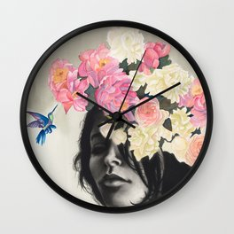 Humming Bird Nature Art Wall Clock