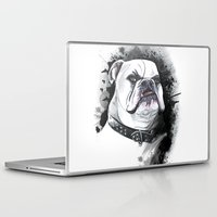 bulldog Laptop & iPad Skins featuring Bulldog by kitara