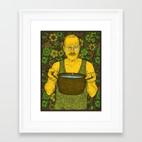 cook Framed Art Prints featuring Cook (green) by Lime