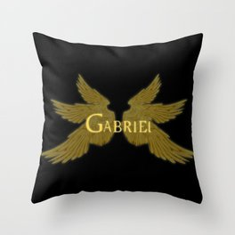 Archangel Gabriel Wings Throw Pillow