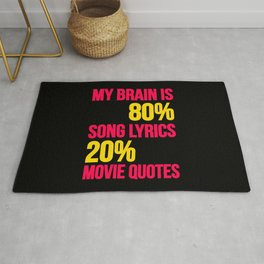 My brain | song lyrics and movie quotes Rug