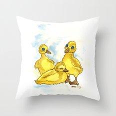 Ducklings Throw Pillow
