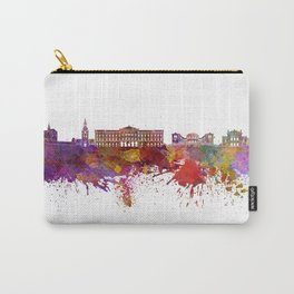 Oslo skyline in watercolor background Carry-All Pouch