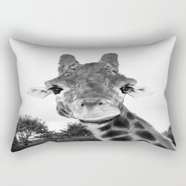 Giraffe. B+W. Rectangular Pillow