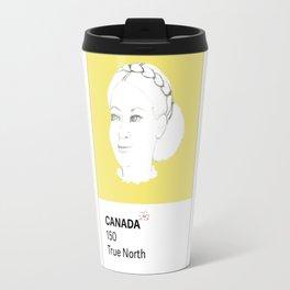 Canada 150 - Ladies Hairstyles - Pantone 602 Travel Mug