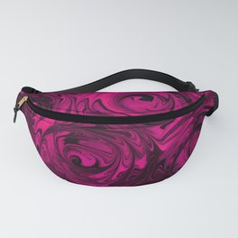 Berry Fuchsia Roses Fanny Pack