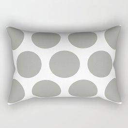 Large Polka Dots: Grey Rectangular Pillow
