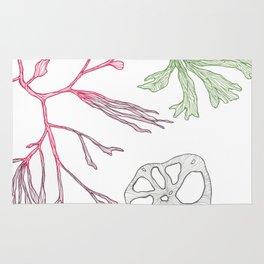 Seaweed and Lotus Root Rug