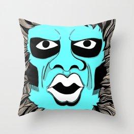 Twilight Zone Gremlin Throw Pillow