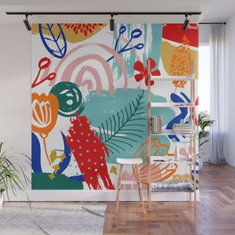 Spring Festival, Botanical, Floral Abstract Wall Mural