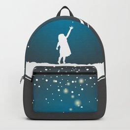 Christmas Girl Snowball - Make a Wish Backpack