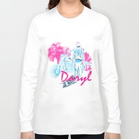 daryl Long Sleeve T-shirts featuring Daryl Drive by Tracey Gurney