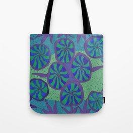 Blue Ocean Groove Tote Bag
