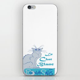 Le Chat Blanc Parody Vector iPhone Skin