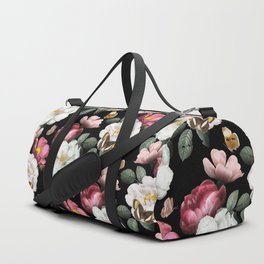 Romantic Vintage Flower and Butterfly Pattern Duffle Bag