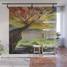 Over Looking Tree Wall Mural