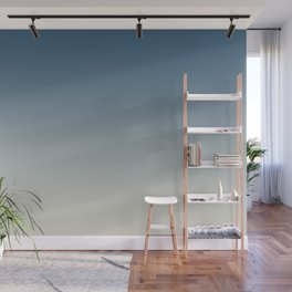 Blue & Linen White Gradient Ombre Blend Pairs To 2020 Color of the Year Chinese Porcelain PPG1160-6 Wall Mural