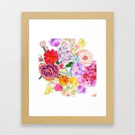 Spring Bouquet in the Garden Framed Art Print