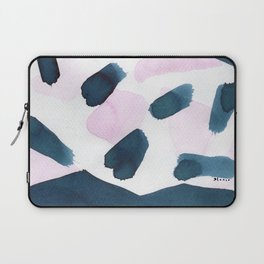 Indigo and pink abstract 101 Laptop Sleeve