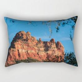Rearing Red Rock Rectangular Pillow