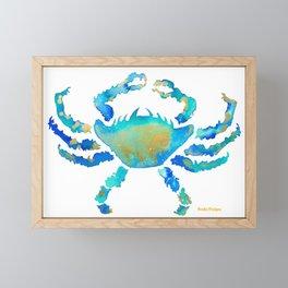 Craggy Blue Crab Framed Mini Art Print