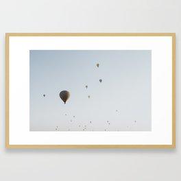 Hot air balloons in the sky Framed Art Print