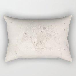 Johann Bayer - Uranometria / Measuring the Heavens (1661) - 08 Lyra Rectangular Pillow