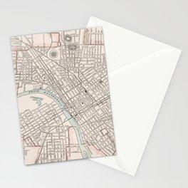 Vintage Map of Nashville Tennessee (1901) Stationery Cards
