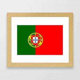 Flag of Portugal Framed Art Print
