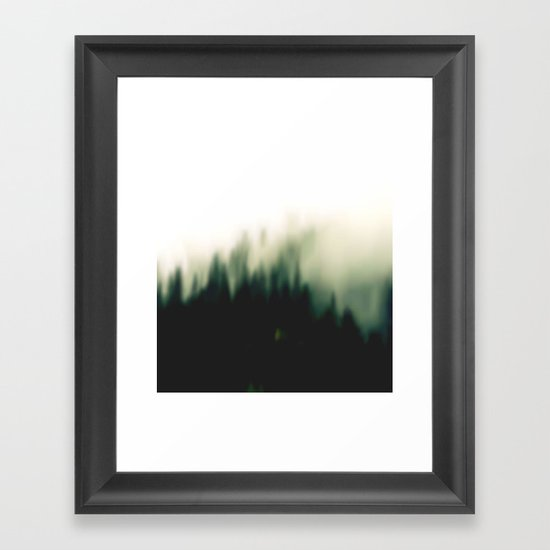 Foggy forrest 2 Framed Art Print